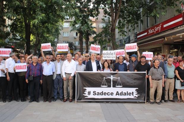 CHP Denizli'den 'Adalet Yürüyüşü'ne 2 dakikalık destek