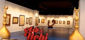 Aşk-ı Nebi Hilye-i Şerif sergisi Sur Yapı Marka AVM'de