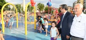Huzurevleri su oyun parkı hizmete açıldı