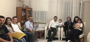 Başkan Yemenici, şehit ailesine misafir oldu.