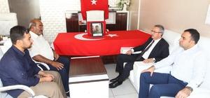 Başkan Köşker Silvan'da şehit alilerini ziyaret etti