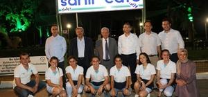 Burhaniye' de Rektör Özdemir ve Başkan Uysal'ın Sahil Kafe ziyareti