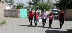 Ağrı Gençlik Merkezi'nden ihtiyaç sahibi ailelere gıda yardımı