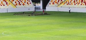 Yeni stadın çöken zeminine dolgu yapıldı