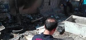 Yangın işyerine sıçramadan söndürüldü