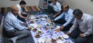 Samsat Kaymakamı Yıldırım şehit ailesi ile iftar açtı