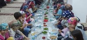 Hisarcık'ta Yaz Kur'an Kursu öğrencilerine iftar yemeği