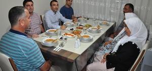 Milas Kaymakamı Arslan şehit ailesinin iftarına katıldı