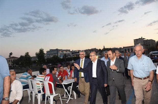 Vali Demirtaş, Taşköprü'de vatandaşlar ile iftarda bir araya geldi