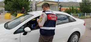Sivas'ta polis ve jandarmadan bayram uygulaması