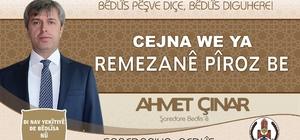 Bitlis Valisinden iki dilli Ramazan Bayramı mesajı