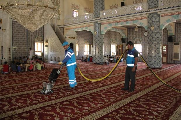 Eyyübiye Belediyesinden ibadethanelerde temizlik çalışması