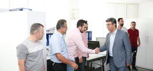 Başkan Karadeniz, personeliyle bayramlaştı