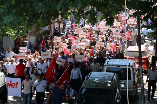 Hekimhan'da Adalet yürüyüşü