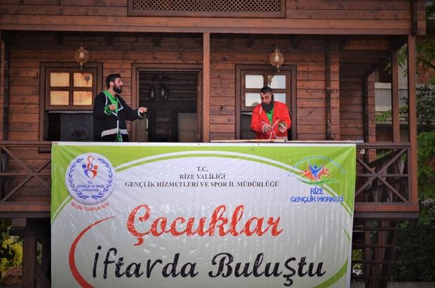 Rize'de 300 çocuk ilk defa oruç tutup iftar açtı