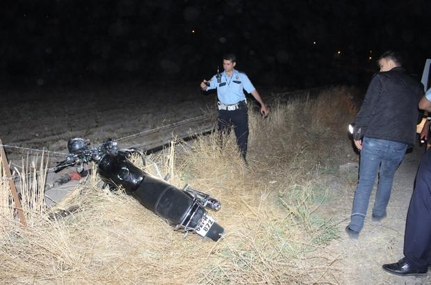 Çalıntı motosiklet kaza yapmış halde bulundu