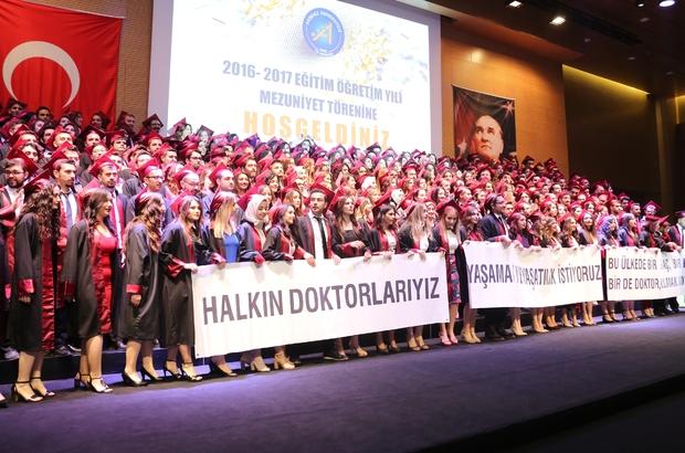 AÜ Tıp Fakültesi'nde mezuniyet coşkusu