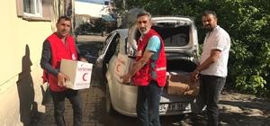 Kızılay'dan 150 aileye gıda yardımı
