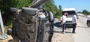 Düzce D-655 karayolunda trafik kazası: 6 yaralı