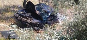 Zeytinliğe uçan otomobilde yaşamını yitirdi