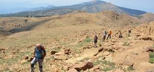 Dağcılar bayramda dağa çıktı