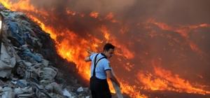 Çöplük yangını kontrol altına alındı
