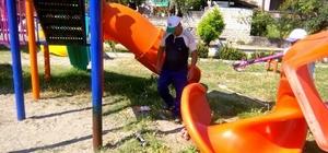 Vezirhan'da bütün çocuk parkları elden geçirildi