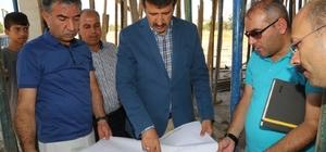 Belediye Başkanı Ekinci misafirhane inşaatında incelemelerde bulundu