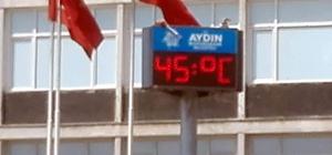 Aydın'da Afrika sıcakları kapıya dayandı