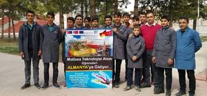 Yunus Emre Mesleki ve Teknik Anadolu Lisesi öğrencileri Almanya'ya gitmeye hazırlanıyor