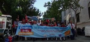 """Bursa'da """"göç"""" yürüyüşü"""