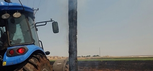 Anız yangını 16 köyü elektriksiz bıraktı