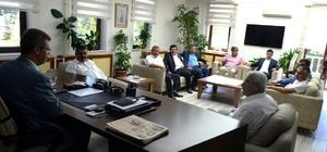 Ziraat Odaları Başkanları Başkan Akay'ı ziyaret etti