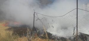 Adıyaman'da hurdalık yangını
