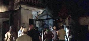 Altıntaş'ta yangın, 2 katlı ev ve tek katlı ahşap bina kül oldu