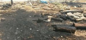Adıyaman'da anız ve odun yangını