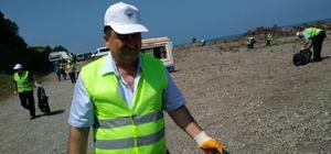 Görele sahilini temizlediler