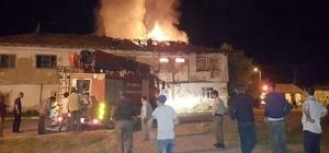 Aslanapa'da 2 katlı ahşap evde  yangın