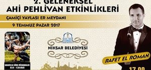 Rafet El Roman Niksar'da konser verecek