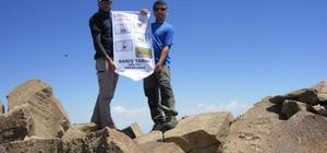 Süphan Dağına zirve tırmanışı