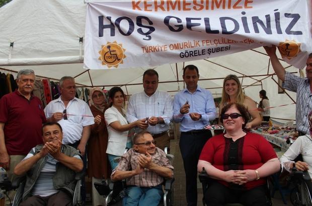 Türkiye Omurilik Felçlileri Derneği Görele Şubesi'nden Kermes