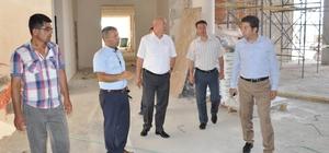 İl Milli Eğitim Müdürü Ulusan, Çerkezköy'deki okul inşaatlarını inceledi