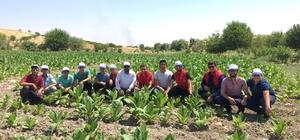 Genç tarım işçilerine tarlada ziyaret