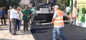 Başkan Çetin, asfalt çalışmalarını denetledi