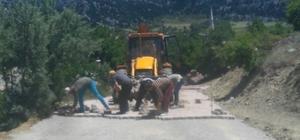 Seydişehir'de parke taşı döşeme çalışmaları
