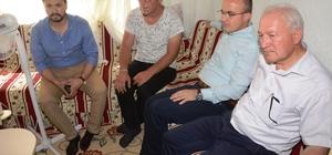 Turan, Lapseki'de bulunan yaşlı ve hastaları ziyaret etti