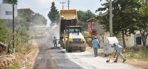 Akdam Mahallesinde asfalt çalışması