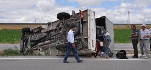 Yozgat'ta kamyonet devrildi: 1 yaralı