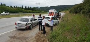 Düzce'de trafik kazası 4 yaralı