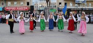 Akşehir Nasreddin Şenliklerinde yerli ve yabancı dans grupları danslarını sergiledi